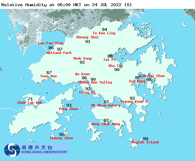 Regional Weather in Hong Kong