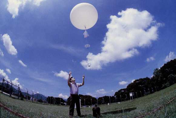 Upper-air sounding balloons are launched routinely