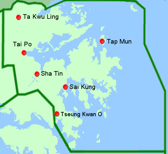 Map of New Territories East