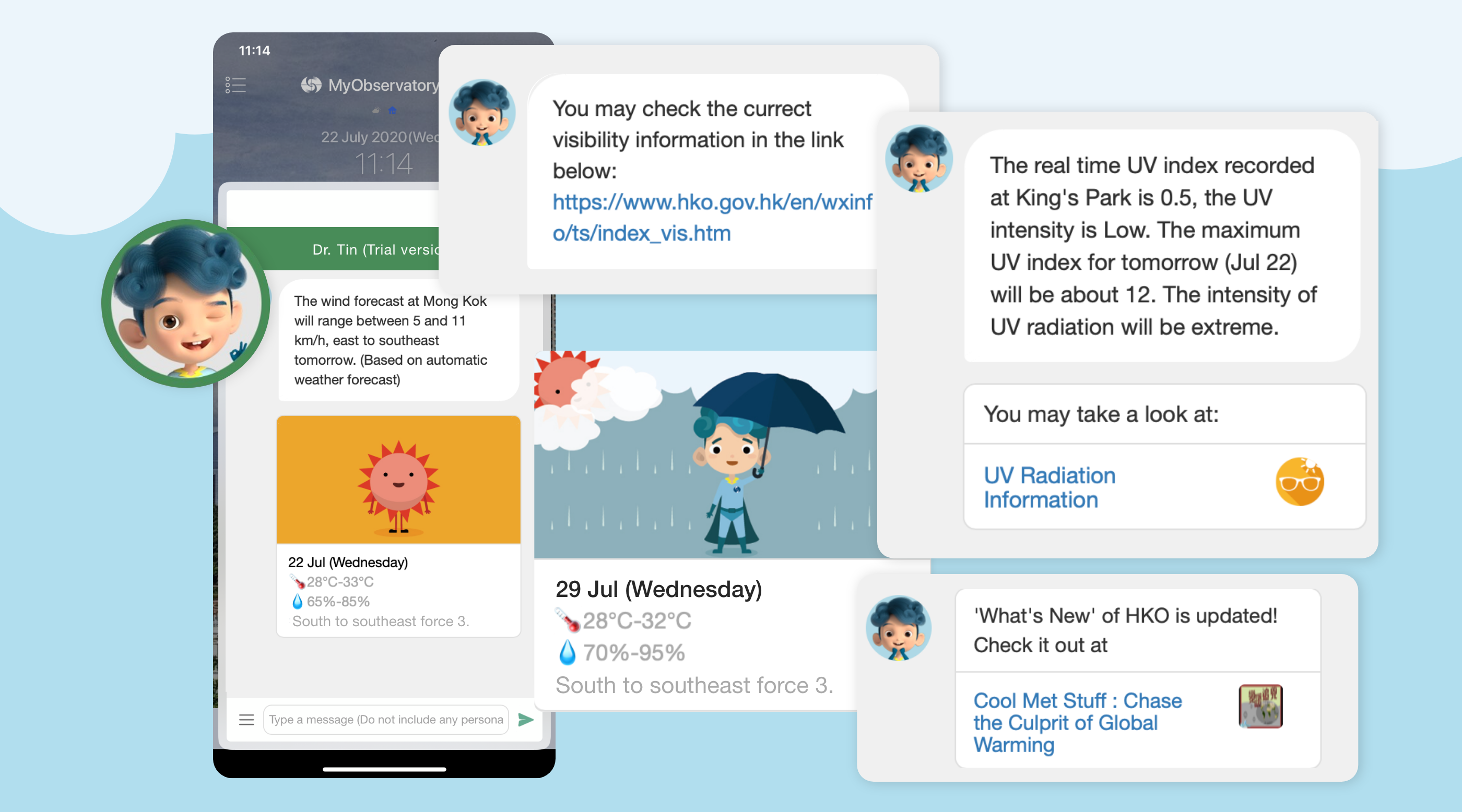 More information provided in 'Dr Tin' Chatbot Service