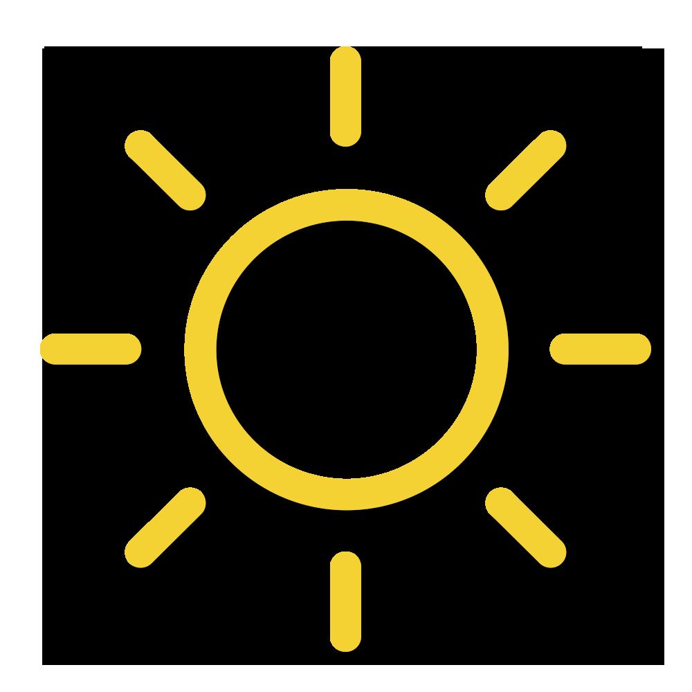 天氣圖示:天晴,日間乾燥。
