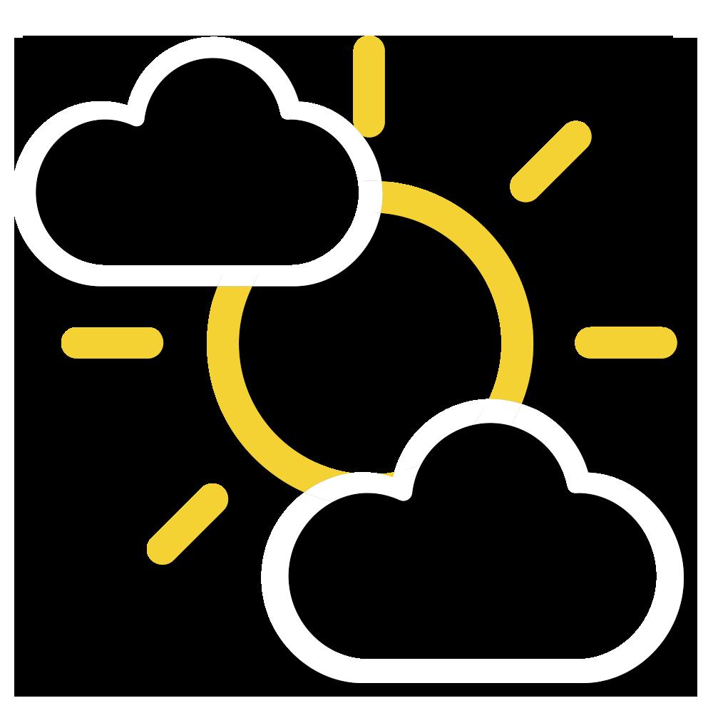 天氣圖示:大致多雲,部分時間天色明朗。