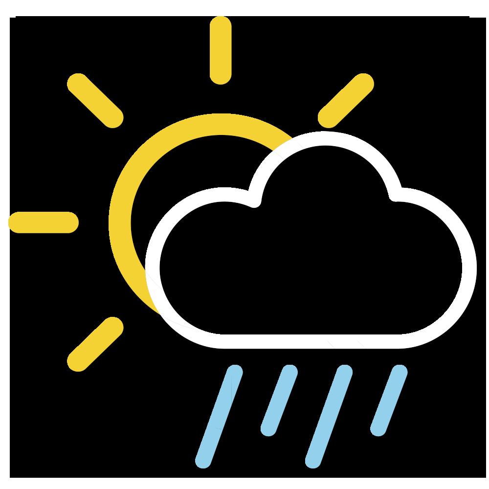 天氣圖示:大致多雲,部分時間天色明朗。稍後有幾陣雨。
