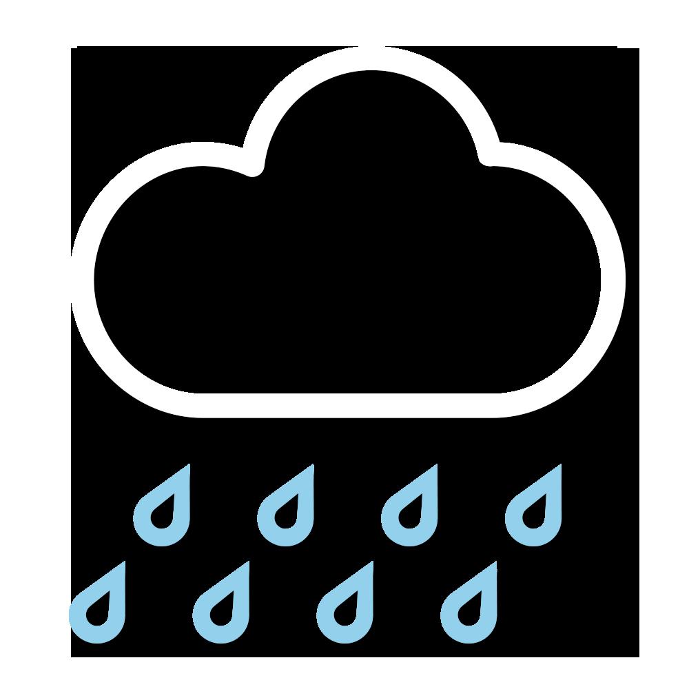 天氣圖示:大致多雲,間中有驟雨及雷暴。