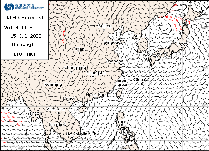 Computer Weather Forecast Map Surface
