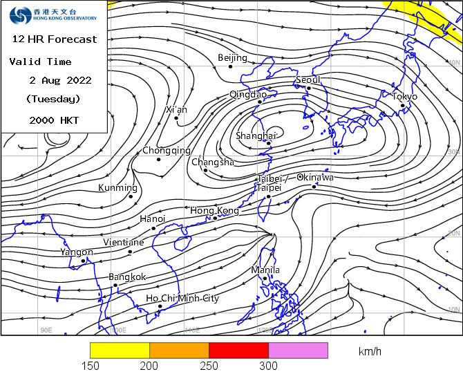 Computer Weather Forecast Map - 200hPa