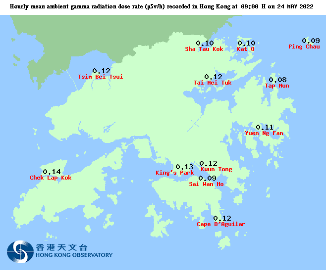 Ambient Gamma Radiation Level in Hong Kong