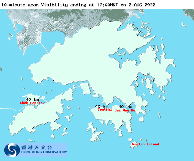 Regional Weather in Hong Kong - Visibility